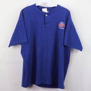 Vintage Planet Hollywood Toronto Henley Shirt Blue